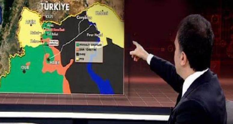 Ömer Çelik harita üzerinden 4 maddede YPG'nin vurulmasını anlattı