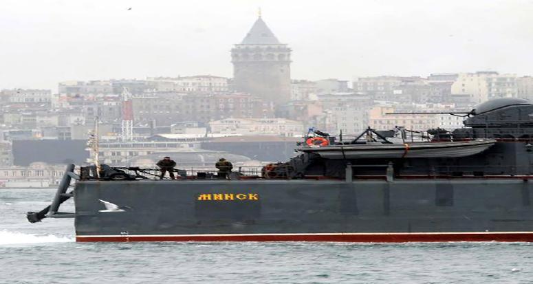 Rus gemisinden 'Kışkırtan Şov!'