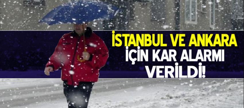 İstanbul ve Ankara için kar alarmı verildi!