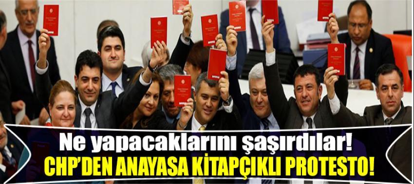 CHP'den anayasa kitaplı protesto