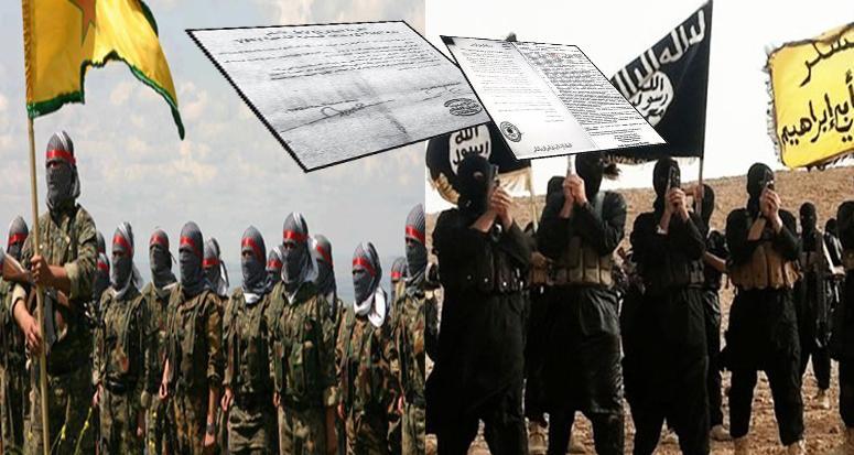 Terör örgütleri IŞİD ve YPG anlaştı!
