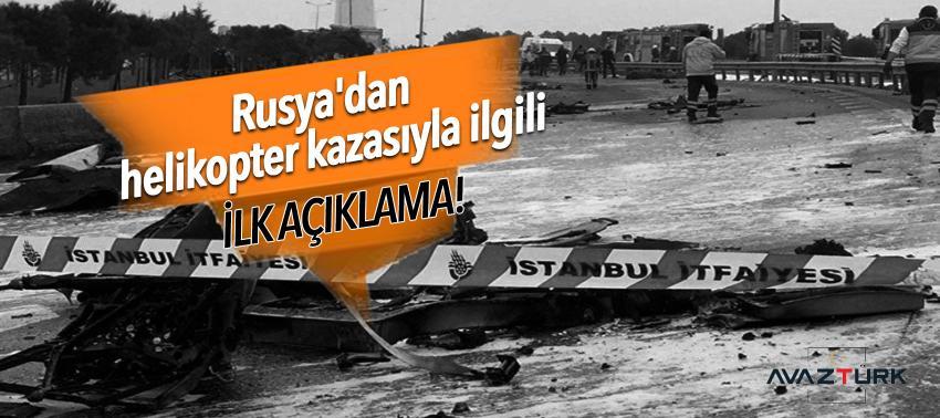 Rusya'dan helikopter kazasıyla ilgili ilk açıklama!