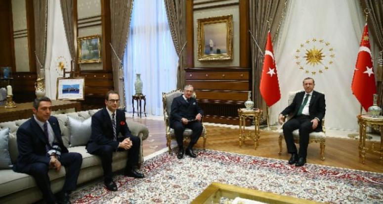 Koç ailesi Cumhurbaşkanı Erdoğan'ı ziyaret etti