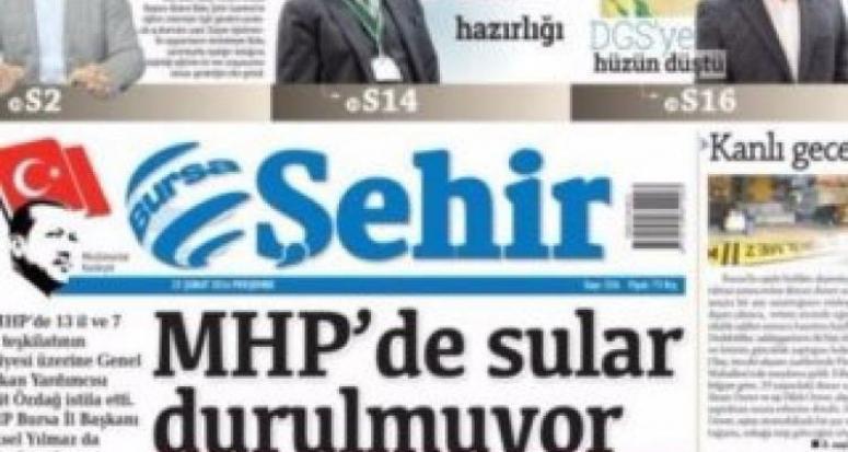 Yerel gazete'nin 'Erdoğan' logosunu hazmedemediler!