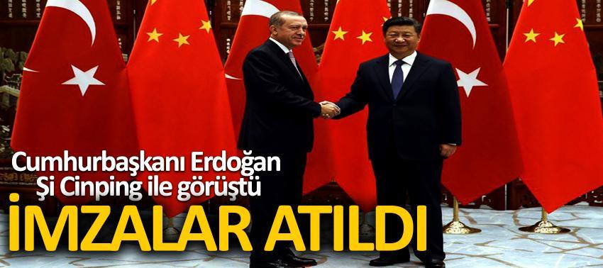 Cumhurbaşkanı Erdoğan Şi Cinping ile görüştü