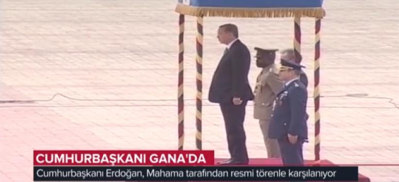 Cumhurbaşkanı Gana'da resmi törenle karşılandı
