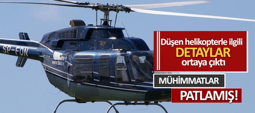 Düşen helikopterle ilgili detaylar ortaya çıktı
