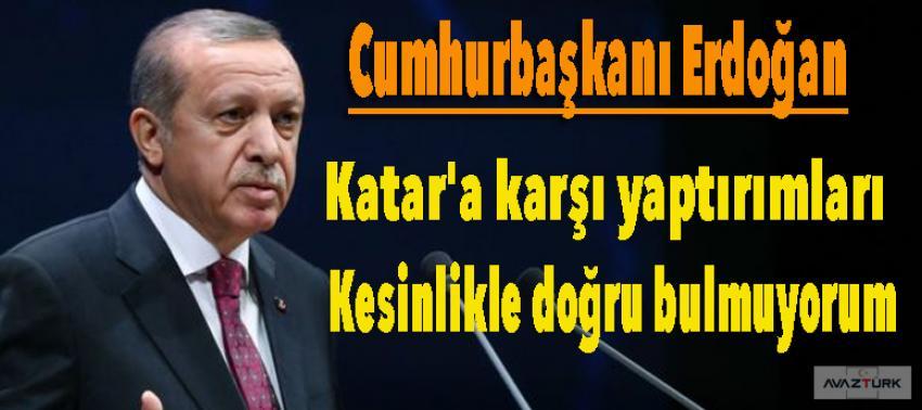Erdoğan: Katar'a karşı yaptırımları kesinlikle...