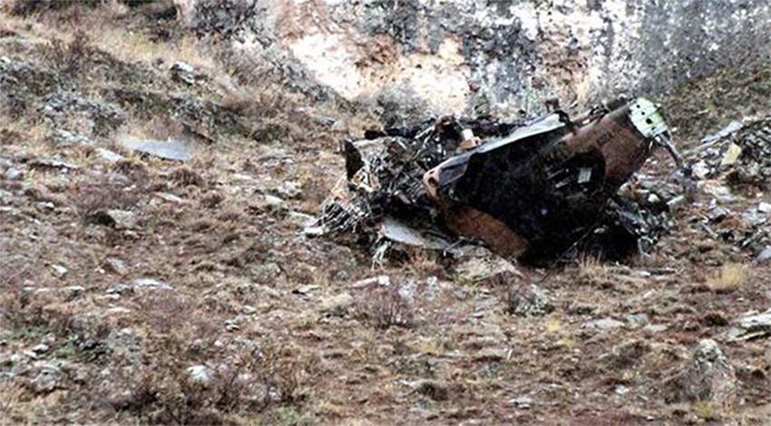 Askeri helikopter düştü: 2 ölü!