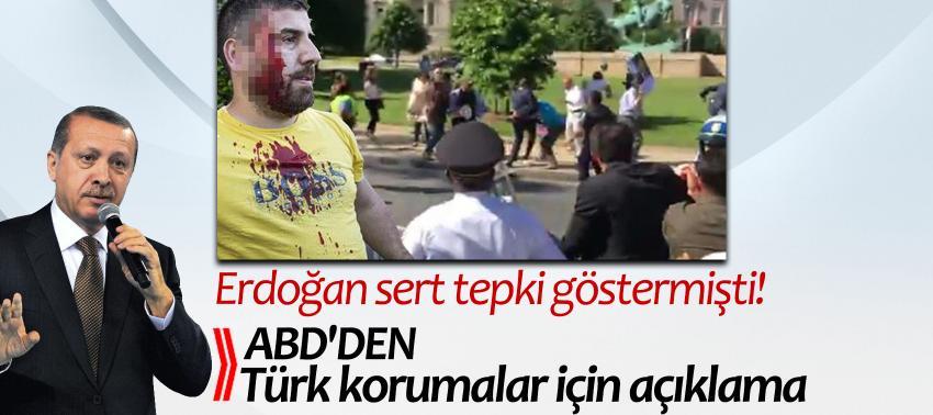Erdoğan'ın tepkisine ABD'den açıklama