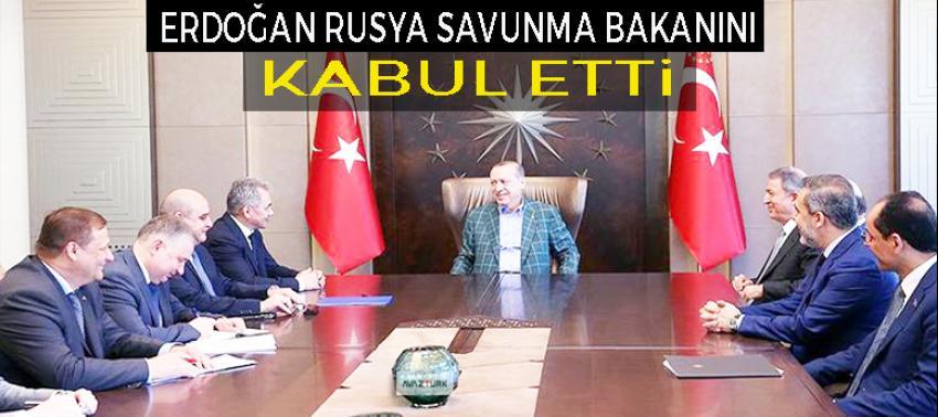 Erdoğan, Rusya Savunma Bakanı Şoygu'yu kabul etti!