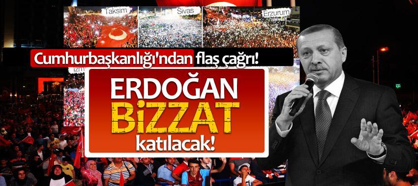 Cumhurbaşkanlığı'ndan flaş çağrı! Erdoğan bizzat katılacak