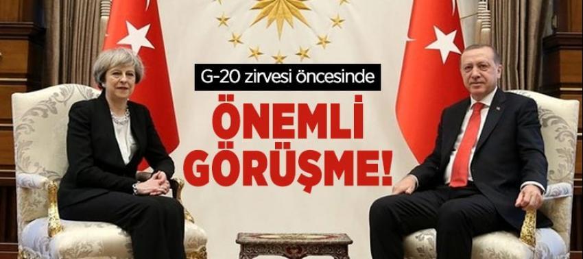 Cumhurbaşkanı Erdoğan, May ile telefonda görüştü.