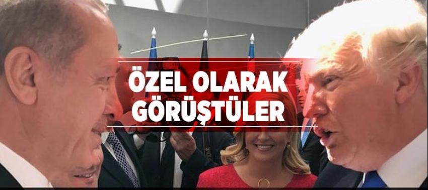 Erdoğan ve Trump Almanya'da görüştü