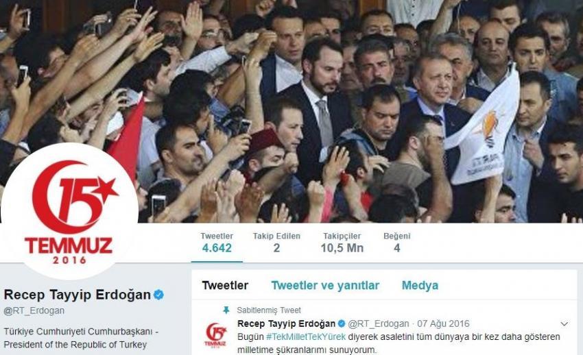 Cumhurbaşkanı'ndan 15 Temmuz'a özel profil