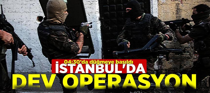 İstanbul'da dev operasyon! Polis helikopteri destek verdi