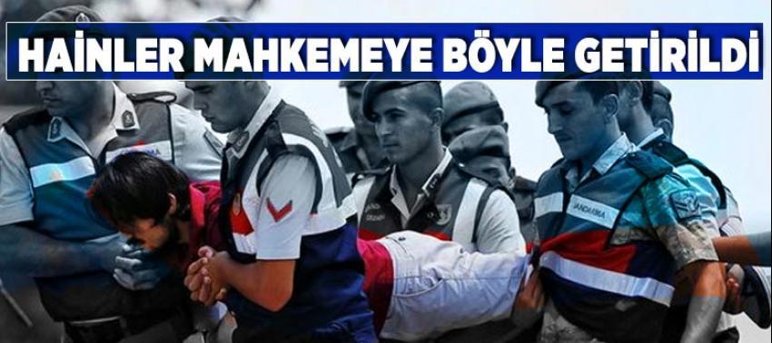 Cumhurbaşkanı Erdoğan'a suikast timi mahkemeye taşınarak getirildi