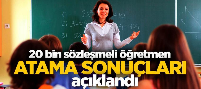20 bin sözleşmeli öğretmen atama sonuçları açıklandı