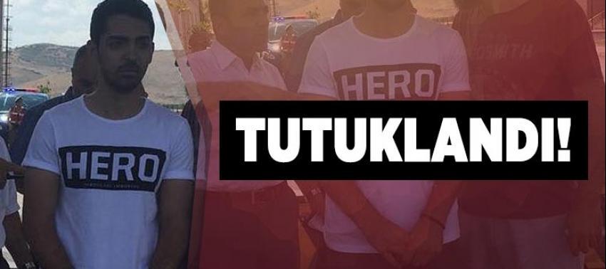 'Hero' tişörtüyle duruşmaya gelen FETÖ'cü yakını tutuklandı