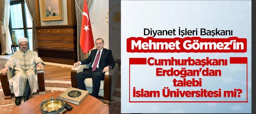 Görmez'in, Cumhurbaşkanı Erdoğan'dan talebi 'İslam Üniversitesi' mi kurmak?