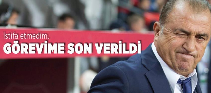 Fatih Terim'den istifa açıklaması!