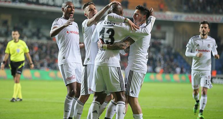 Beşiktaş 3 puana 3 golle uzandı
