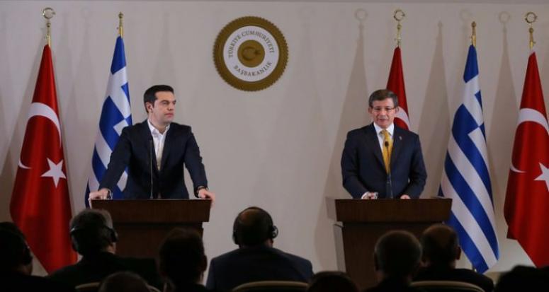 Davutoğlu ve Çipras'tan ortak açıklama: Vize muhafiyeti haziranda başlayacak