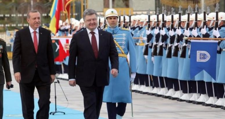 Erdoğan ve Poroşenko'dan ortak basın açıklaması