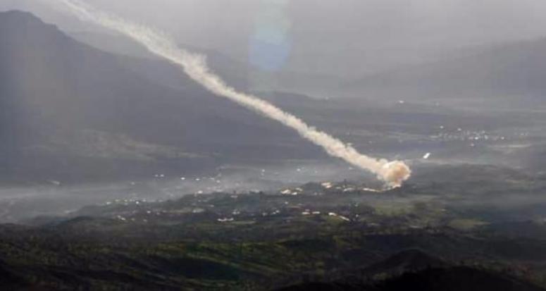 Fırtına Obüsleri PKK güzergahlarını topa tuttu