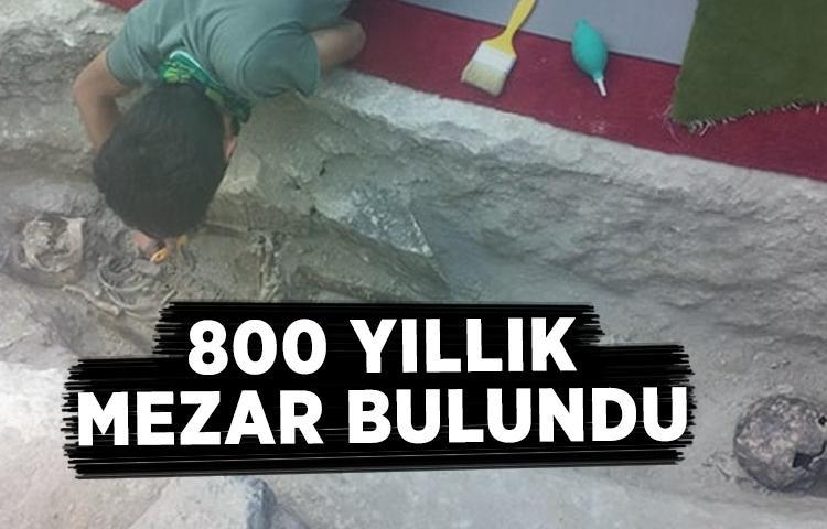 Nevşehir'de yaklaşık 800 yıllık mezar bulundu