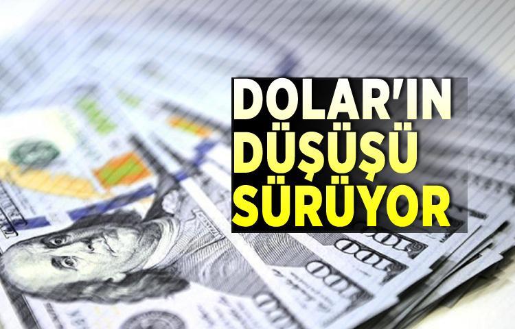 Dolar'ın düşüşü sürüyor