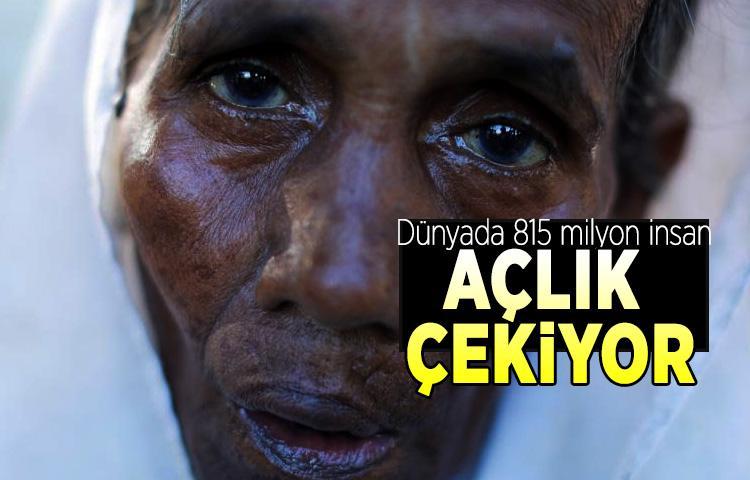 Dünyada 815 milyon insan açlık çekiyor