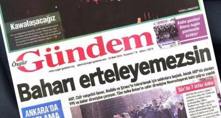 Teröristin gazetesi Özgür Gündem'i toplatma kararı onaylandı