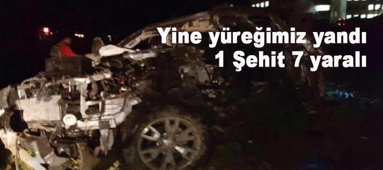 Yine yüreğimiz yandı: Mardin'de 1 şehit, 7 yaralı