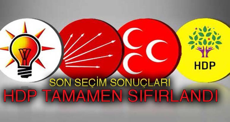 Son seçim anketinde HDP sıfırlandı