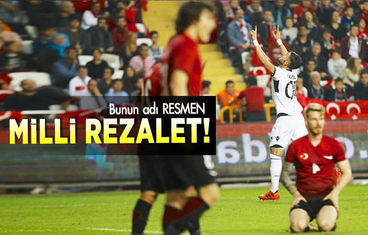 Türkiye A milli takım Arnavutluk'a 3-2 mağlup oldu