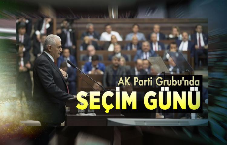 AK Parti Grubu'nda seçim günü