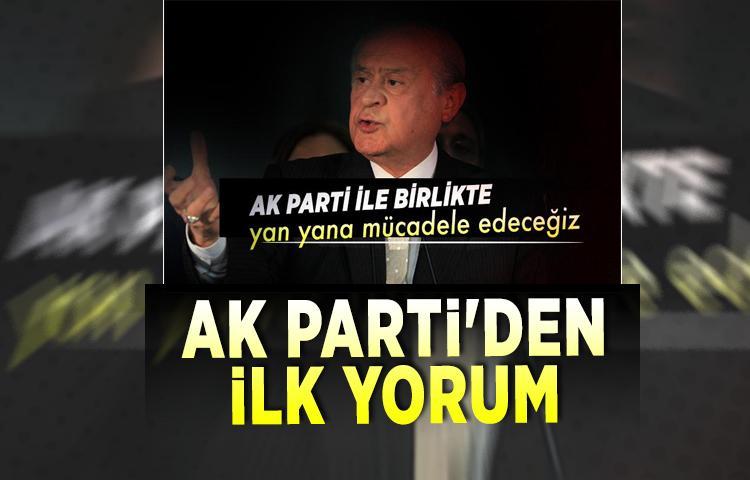MHP Lideri Bahçeli'nin işbirliği açıklamasına AK Parti'den ilk yorum