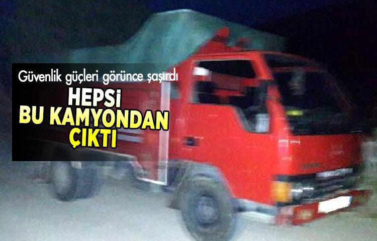 Çanakkale'de kamyon kasasından çıkanlar güvenlik güçlerini şaşırttı