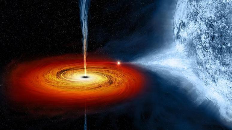 Güneşin bin katı parlaklığında ışık yayan kara delik görüntülendi