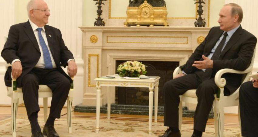 İsrail Cumhurbaşkanı Rivlin'den Putin'e ziyaret