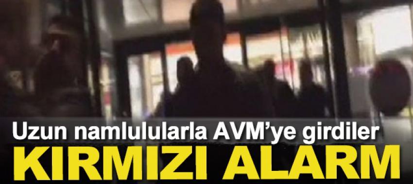 Uzun namlulularla AVM'ye giren PKK'lılar için kırmızı alarm