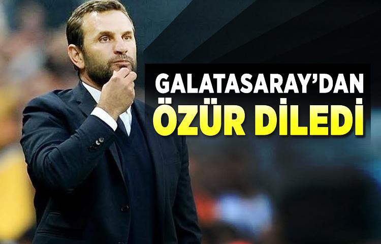 Galatasaray'dan özür diledi