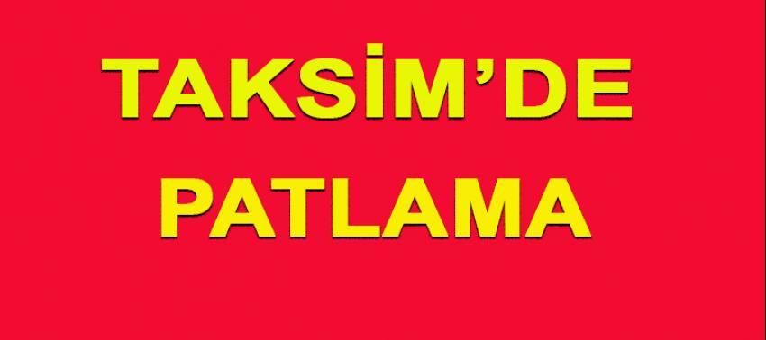 Taksim'de patlama! 5 kişi öldü 36 kişi yaralandı!