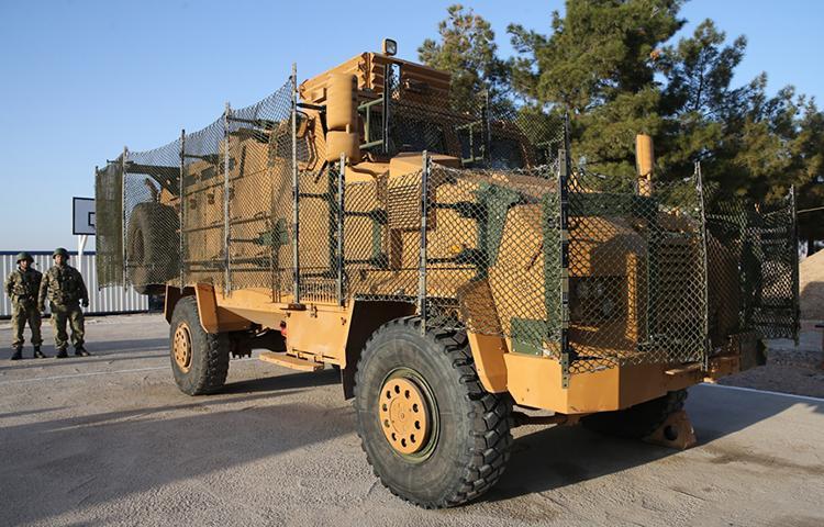 Zırhlı araçlara, roket koruma ağı