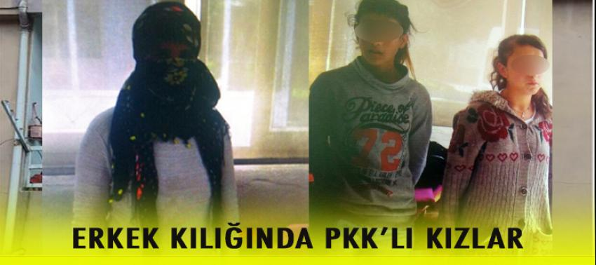 Erkek kılığındaki PKK yandaşı 3 kız