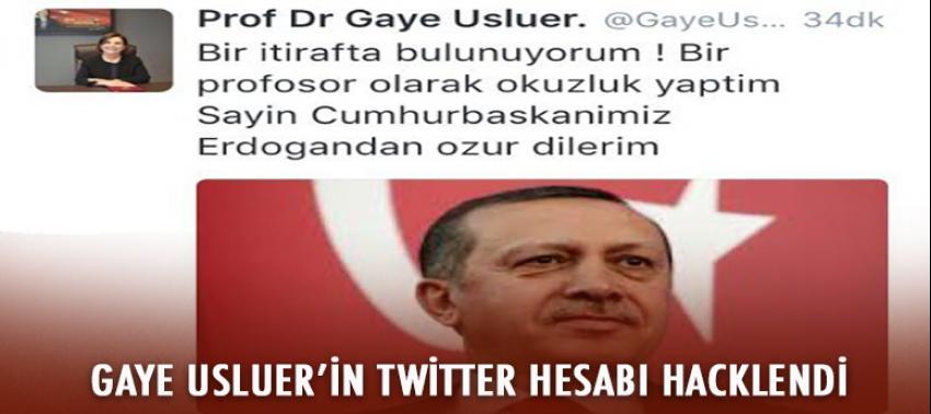 Gaye Usluer'in Twitter hesabı hacklendi