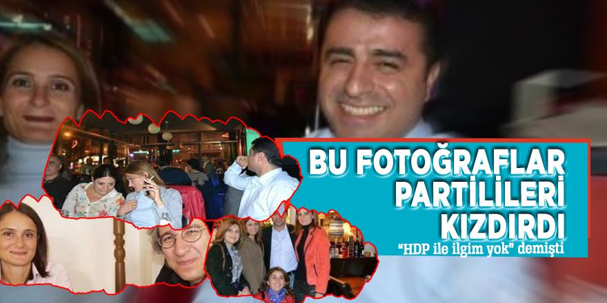 """Bu fotoğraflar partilileri kızdırdı  """"HDP ile ilgim yok"""" demişti"""