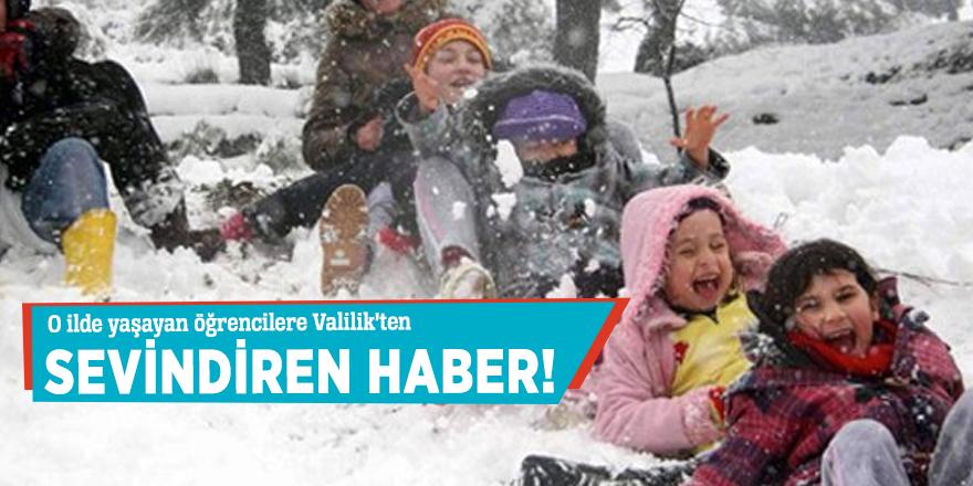 O ilde yaşayan öğrencilere Valilik'ten sevindiren haber!