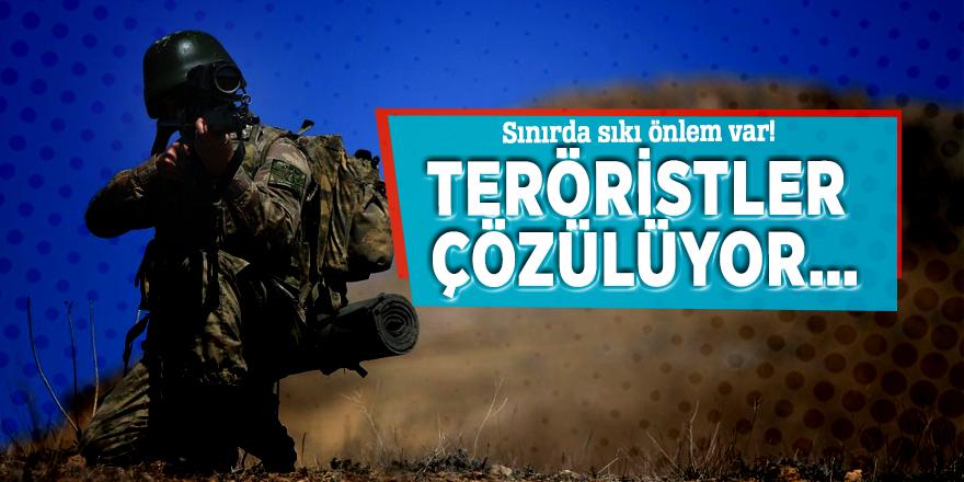 Sınırda sıkı önlem var! Teröristler çözülüyor…